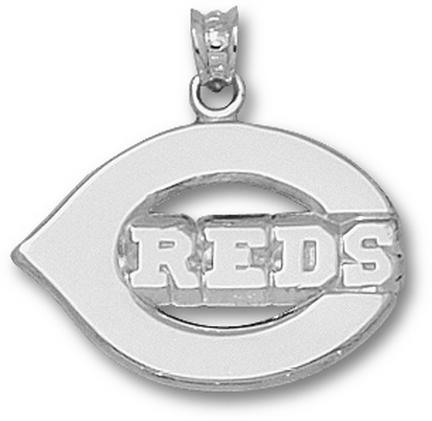 Cincinnati Reds Polished 'C Reds' 5/8in Pendant - Sterling Silver Jewelry