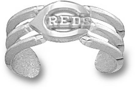 Cincinnati Reds 'C Reds' Toe Ring - Sterling Silver Jewelry