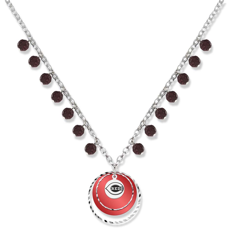 Cincinnati Reds Game Day Necklace LGA-RDS068N-CR