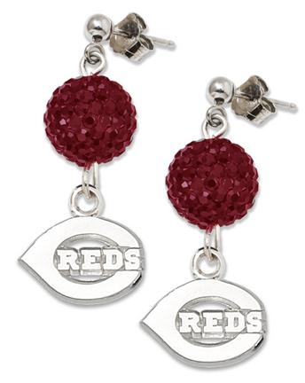 Cincinnati Reds Ovation Crystal Earrings