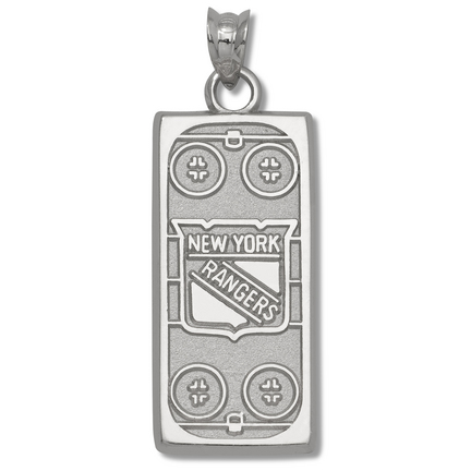 New York Rangers 15/16 Rink Pendant Sterling Silver Jewelry