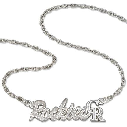 """Colorado Rockies """"Rockies"""" Sterling Silver Script Necklace"""