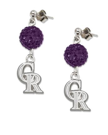 Colorado Rockies Ovation Crystal Earrings