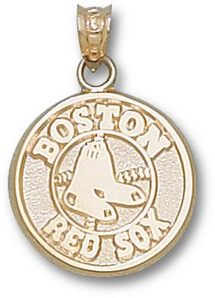 "Boston Red Sox Round Logo 5/8"" Lapel Pin - Sterling Silver Jewelry"