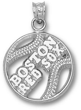 Pierced Boston Red Sox Baseball Pendant - Sterling Silver Jewelry