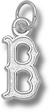 Boston Red Sox 1/2 B Charm Sterling Silver Jewelry