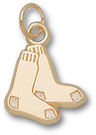 Boston Red Sox 1/2in Pair of Sox Charm - 10KT Gold Jewelry