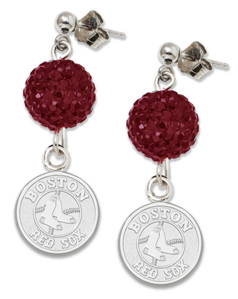 Boston Red Sox Ovation Crystal Earrings