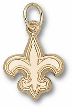 New Orleans Saints Saints Logo 1/2 Charm - 14KT Gold Jewelry