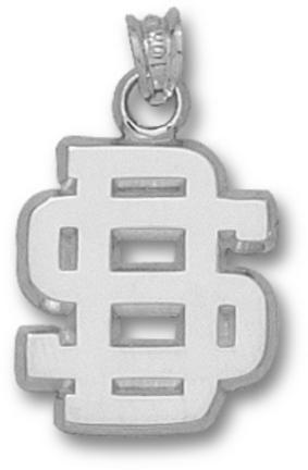 South Dakota State Jackrabbits SD Pendant - Sterling Silver Jewelry
