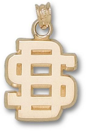 South Dakota State Jackrabbits SD Pendant - 14KT Gold Jewelry