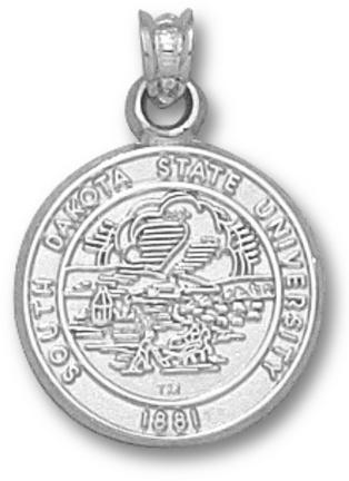 South Dakota State Jackrabbits Seal Pendant - Sterling Silver Jewelry