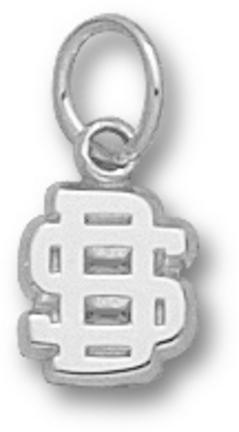 South Dakota State Jackrabbits SD 1/4 Charm - Sterling Silver Jewelry