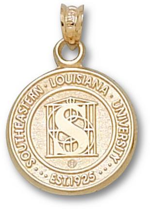 """Southeastern Louisiana Lions """"Seal"""" Lapel Pin - 10KT Gold Jewelry"""
