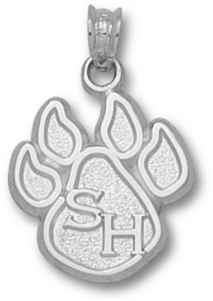 Sam Houston State Bearkats 5/8 Paw Pendant Sterling Silver Jewelry