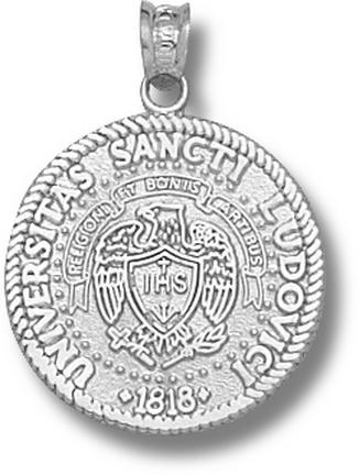 St. Louis Billikens Official Seal 3/4 Pendant Sterling Silver Jewelry