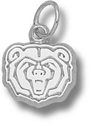 Missouri State University Bears Bear Head 3/8 Charm Sterling Silver Jewelry