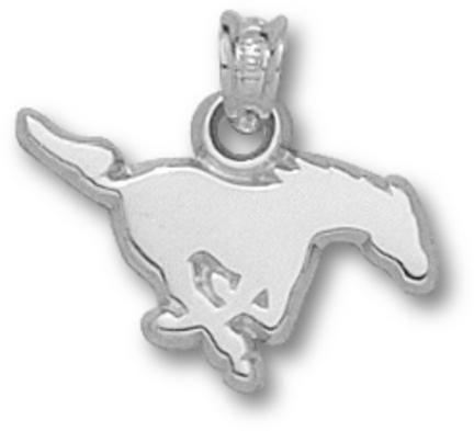 "Southern Methodist (SMU) Mustangs ""Running Mustang"" Pendant - Sterling Silver Jewelry"