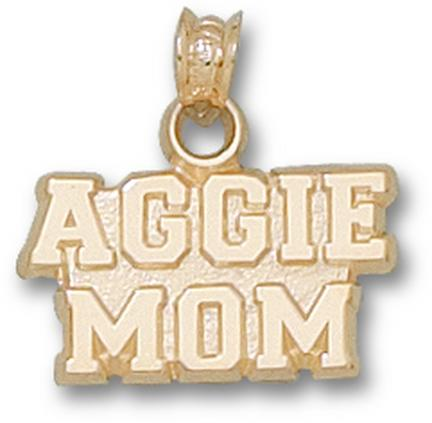 """Texas A & M Aggies """"Aggie Mom"""" Lapel Pin - Sterling Silver Jewelry"""
