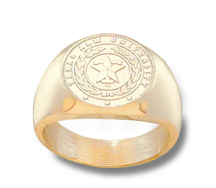 Texas A & M Aggies Seal Mens Ring Size 10 12  14KT Gold Jewelry