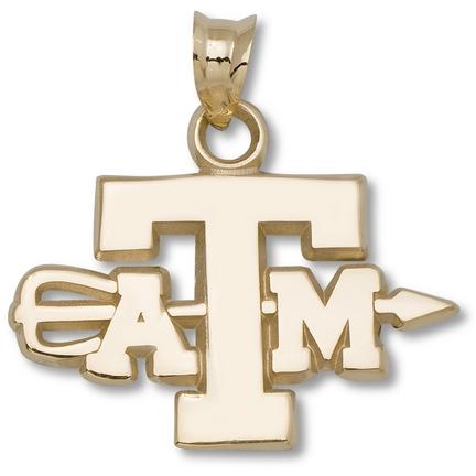 "Texas A & M Aggies ""ATM Archery"" Pendant - 14KT Gold Jewelry thumbnail"