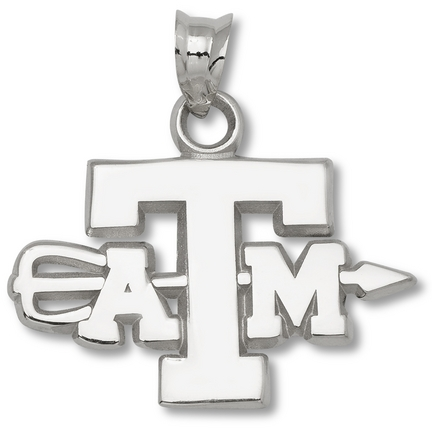 Texas A & M Aggies ATM Archery Pendant - Sterling Silver Jewelry