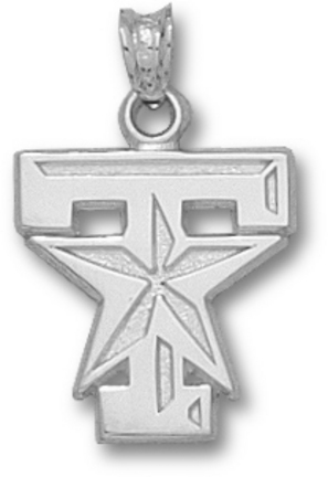 Texas A & M Aggies T Star Logo 5/8 Pendant - Sterling Silver Jewelry