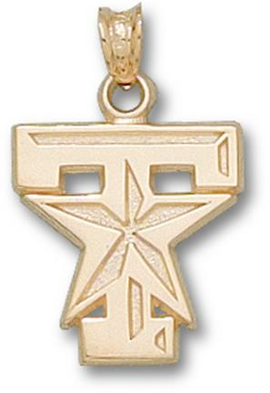 """Texas A & M Aggies """"T Star"""" Logo 5/8"""" Lapel Pin - 10KT Gold Jewelry"""