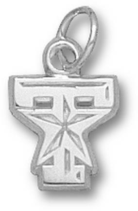 Texas A & M Aggies T Star Logo 3/8 Charm - Sterling Silver Jewelry