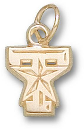 Texas A & M Aggies T Star Logo 3/8 Charm - 14KT Gold Jewelry