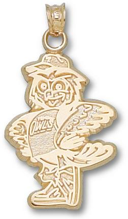 Temple Owls Standing Owl Pendant - 14KT Gold Jewelry