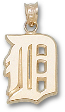 Detroit Tigers 7/16 in 'D' Pendant - 10KT Gold Jewelry