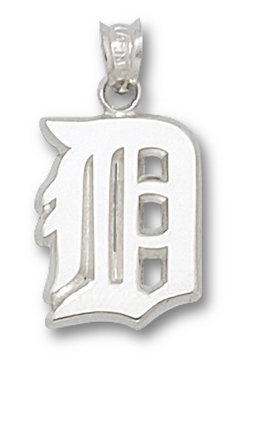"""Detroit Tigers """"D"""" 7/16"""" Pendant - Sterling Silver Jewelry"""