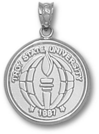 Troy State Trojans Seal Pendant Sterling Silver Jewelry