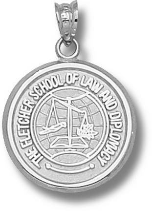 "Tufts Jumbos ""Fletcher Law School"" Pendant - Sterling Silver Jewelry"