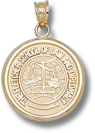 "Tufts Jumbos ""Fletcher Law School"" Lapel Pin - 14KT Gold Jewelry"