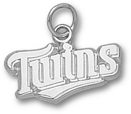 Minnesota Twins Twins 3/8 Charm - Sterling Silver Jewelry