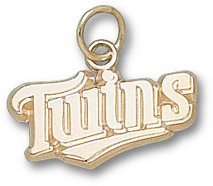 Minnesota Twins Twins 3/8 Charm - 14KT Gold Jewelry