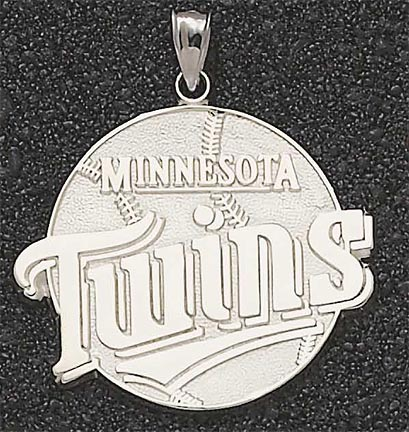 Minnesota Twins Giant 1 3/4 W x 1 1/2 H Twins Club Logo Pendant - 14KT Gold ..