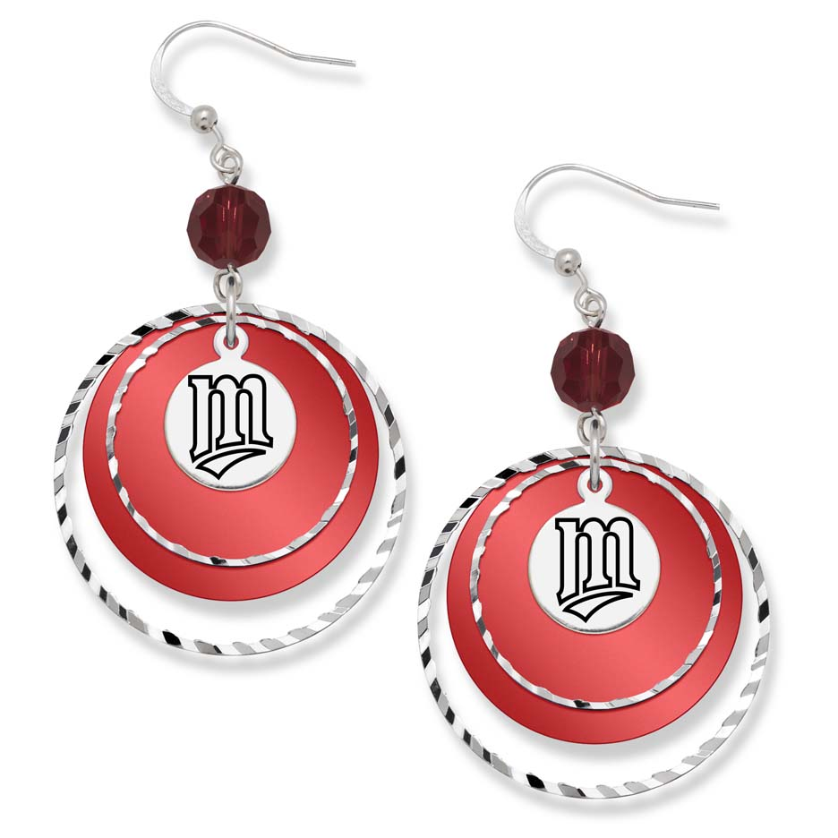 Minnesota Twins Game Day Earrings LGA-TWN068ER-CR