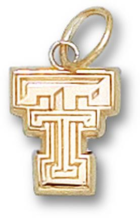 "Texas Tech Red Raiders New Flat ""TT"" 3/8"" Lapel Pin - Sterling Silver Jewelry"