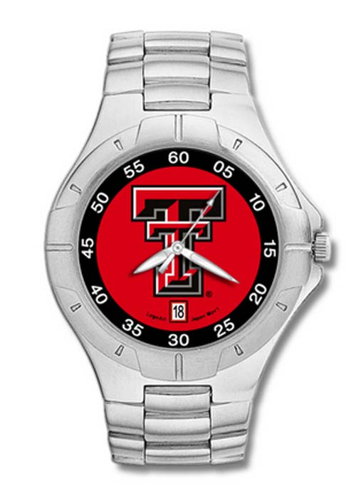 Texas Tech Red Raiders TT NCAA Mens Pro II Watch with Stainless Steel Bracelet