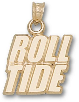 "Alabama Crimson Tide ""Roll Tide"" Lapel Pin - Sterling Silver Jewelry"