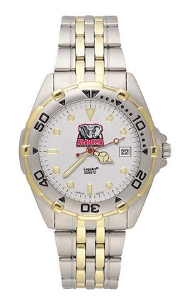 Alabama Crimson Tide New Elephant All Star Watch with Stainless Steel Band - Men's