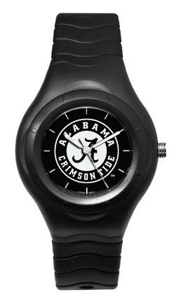 Alabama Crimson Tide Shadow Black Sports Watch with White Logo