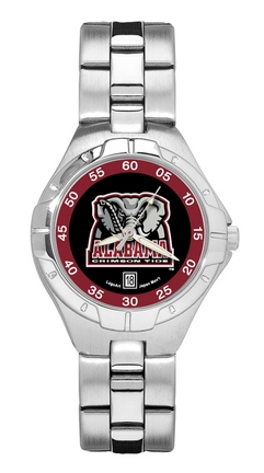 Alabama Crimson Tide New Elephant Woman's Pro II Watch with Stainless Steel Bracelet