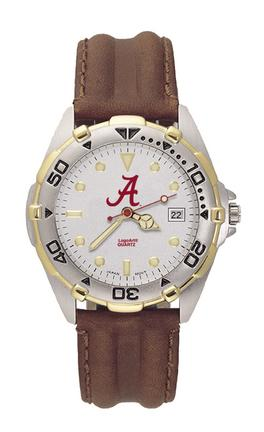 Alabama Crimson Tide NCAA Men's All Star Watch with Leather Band LGA-UAL401