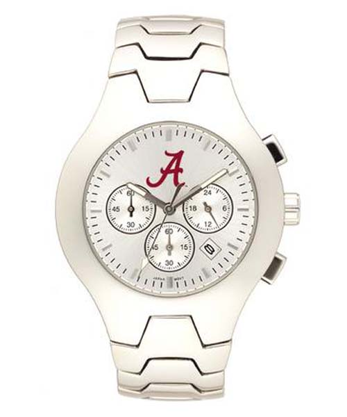 Alabama Crimson Tide NCAA Men's Hall of Fame Watch with Stainless Steel Bracelet
