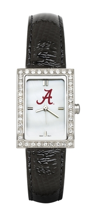 Alabama Crimson Tide Women's Allure Watch with Black Leather Strap LGA-UAL433
