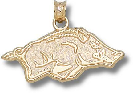 """Arkansas Razorbacks 1/2"""" Athletic """"Razorback"""" Pendant - 14KT Gold Jewelry"""